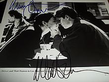 MINNIE DRIVER AND MATT DAMON AUTOGRAPHED PHOTO