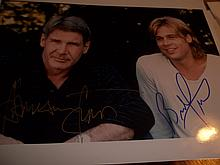HARRISON FORD AND BRAD PITT AUTOGRAPHED PHOTO