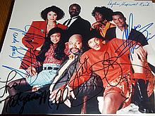 CAST OF FRESH PRINCE OF BEL AIR WILL SMITH CAST AUTOGRAPHED PHOTO