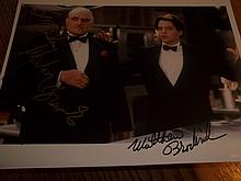 MARLON BRANDO AND MATHEW BRODERICK SIGNED PHOTO