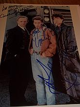 FREEJACK ANTHONY HOPKINS EMILO ESTEVEZ AND MICK JAGGER AUTOGRAPHED PHOTO
