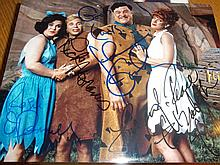 FLINTSTONES SIGNED CAST PHOTO