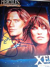 HERCULES KEVIN SORBO AND LUCY LAWLESS SIGNED PHOTO