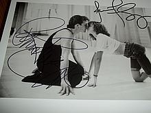 DIRTY DANCING PATRICK SWAYZE AND JENNIFER GREY SIGNED PHOTO