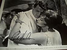 ROCK HUDSON AND GINA LOLLOBRIGIDA SIGNED PHOTO