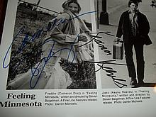 KEANU REEVES AND CAMERON DIAZ AUTOGRAPHED PHOTO