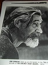 JOHN CARRADINE AUTOGRAPHED PHOTO