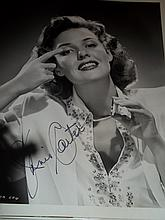 JANIS CARTER AUTOGRAPHED PHOTO