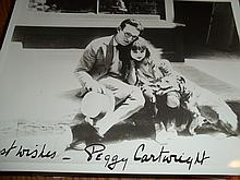VINTAGE PEGGY CARTWRIGHT AUTOGRAPHED PHOTO