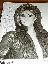 JULIE BUDD AUTOGRAPHED PHOTO