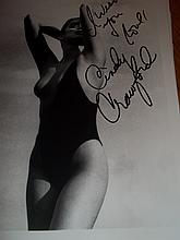 CINDY CRAWFORD NUDE AUTOGRAPHED PHOTO
