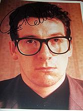 ELVIS COSTELLO AUTOGRAPHED PHOTO