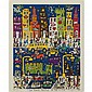James Rizzi TOO MANY PEOPLE IN THE CITY Three-dimensional color lithograph multiple