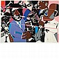 Romare Bearden JAZZ II Color screenprint