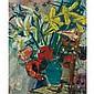 Sigmund Joseph Menkes Polish/American, 1896-1986 Anemonies in a Green Vase