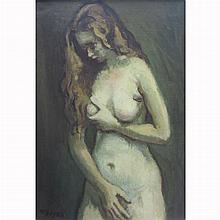 Moses Soyer America, 1899-1974 Standing Female Nude