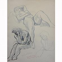 Moses Soyer American, 1899-1974 (i) Model Studies (ii) Seated Nude