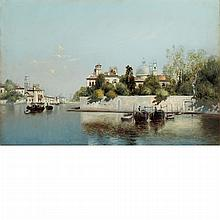 Warren W. Sheppard American, 1858-1937 Venetian Canal