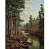 Levi Wells Prentice American, 1851-1935 The Adirondacks   Signed L. W. Prentice. (lr) Oil on canvas 20 x..., Levi Wells Prentice, $2,500