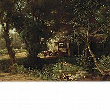 Hugh Bolton Jones American, 1848-1927 Old Mill, 1876