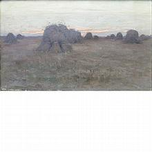 Charles Harold Davis American, 1856-1933 Haystacks