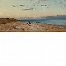Samuel Colman American, 1832-1920 Cart on the Beach