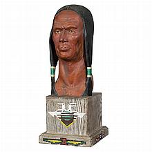 Attributed to Andrew Winter Native American Bust