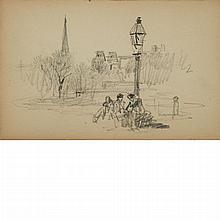 William Merritt Chase American, 1849-1916 Park Scene