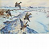 John Whorf American, 1903-1959 Ducks in Flight (Winter on the Marshes)   Signed John Whorf (lr); inscribed a..., John Whorf, $0