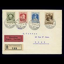 Liechtenstein 1929 Prince Francis I Scott 90-93, Zumstein 80-83