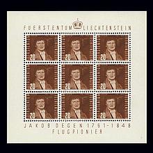 Liechtenstein Art Post 1948 10Rp to 10Fr Scott C24-C33
