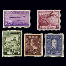 Liechtenstein Mint Stock 1933 to 1975