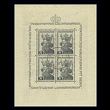 Liechtenstein Mint Sheets 1941 to 1979