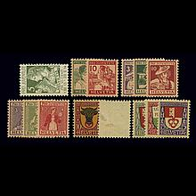 Switzerland Group of Mint Issues 1918 to 1955   Selection of Mint Never Hinged stamps, comprising Regular Scott nos. 182-184...