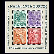 Switzerland 1934 NABA Sheet Scott 226