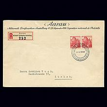 Switzerland 1938 20C Red San Salvatore Printed on Smooth Paper Scott 243, Zumstein 215y
