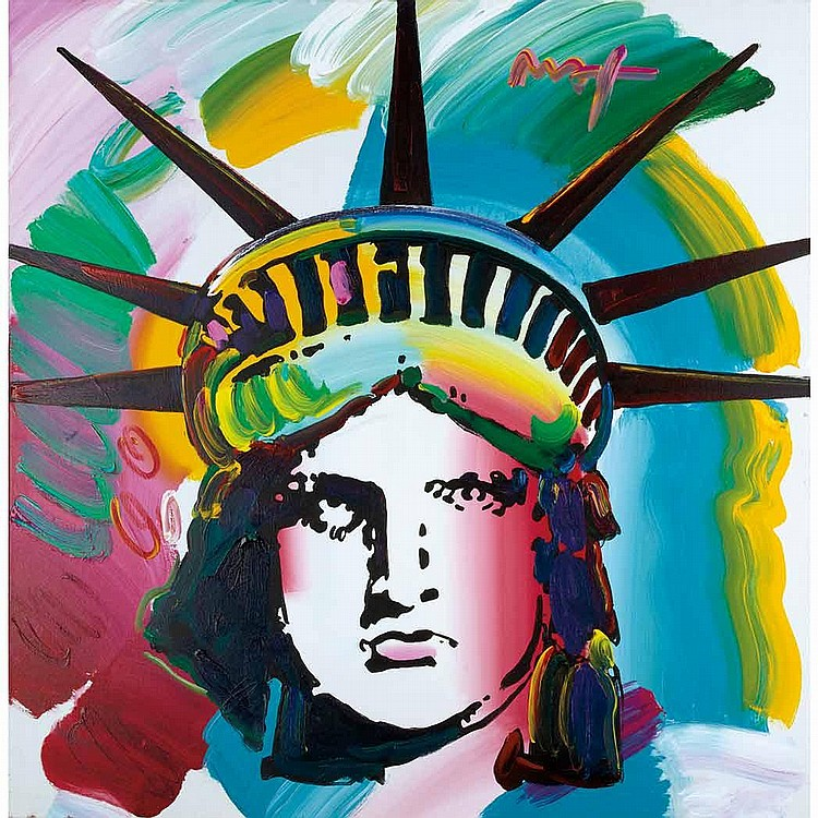 Peter Max American, b. 1937 Liberty Head Version I #3, 2007