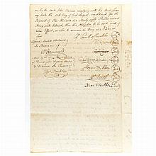 CARROLL OF CARROLLTON, CHARLES Signed document. Baltimore County, Maryland: 27 October 1794. Land conveyance document with i...