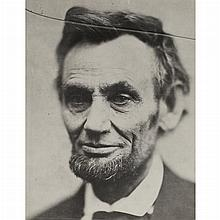 [LINCOLN, ABRAHAM - GARDNER, ALEXANDER] Portrait of Abraham Lincoln (Meserve 100). A later printing of Meserve 100, inscribe...