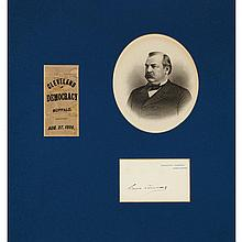 [PRESIDENTS] Three signed items. Comprising HARRISON, BENJAMIN. Card signed and dated in his hand 20 July 1848; HAY...