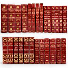 CHURCHILL, WINSTON Group of finely bound first editions, each similarly bound by Bayntun in full or half red morocco gilt, t...