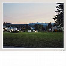 CREWDSON, GREGORY (b. 1962) [Production Still (Brightview #2)]. Digital C-print, 11 7/8 x 15 5/8 inches (301 x 397 mm), sign...