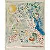 Marc Chagall LA CHASSE A L'OISEAU BLEU Color lithograph