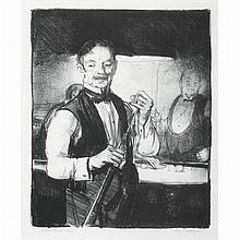 George Bellows OLD BILLIARD PLAYER Lithograph