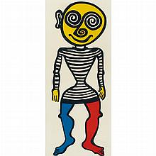 Alexander Calder PUPPET MAN Color lithograph