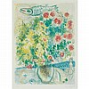Marc Chagall ROSES AND MIMOSA Color lithograph