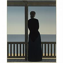 Will Barnet WOMAN BY THE SEA Color lithograph