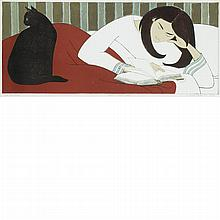 Will Barnet THE READER Color lithograph
