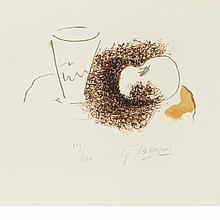 Georges Braque LE VERRE ET LA POMME Color lithograph