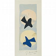 After Georges Braque SOLEIL ET LUNE II Color lithograph